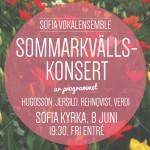 Sommarkvällskonsert 8 juni